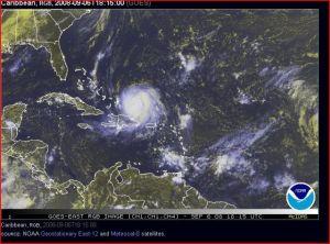 Vista Satelital Huracán Ike