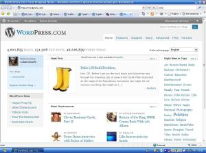 Wordpress.com. Página principal